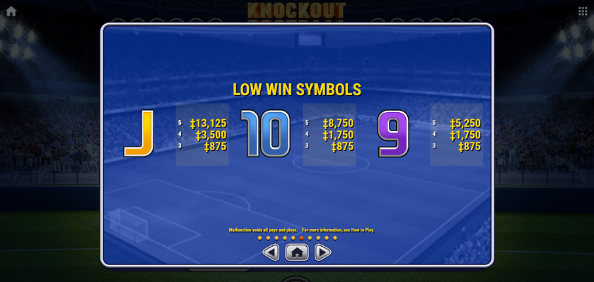 Knockout Football - symbols